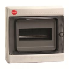 Щиток настен. с дверцей 8 мод.,IP65, серый | 85608 | DKC