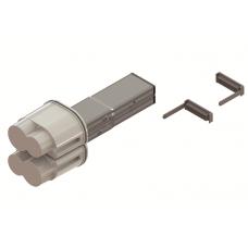 Питающий элемент + заглушка, тип 1, Cu, 2P+2P/4P+4P/4P+2P, 25A   LTC25FFED3AA000   DKC