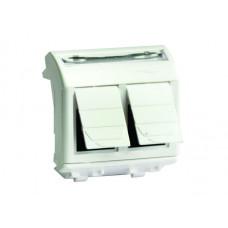 Компьютерная розетка RJ-45. кат.5Е (2 разъема PcNet). белая. 2мод. | 76656B | DKC