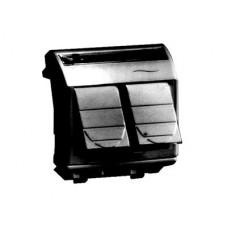 Компьютерная розетка RJ-45. кат.5Е (2 разъема АМР). черная. 2мод. | 77643N | DKC