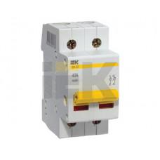Выключатель нагрузки (мини-рубильник) ВН-32 2Р 63А | MNV10-2-063 | IEK