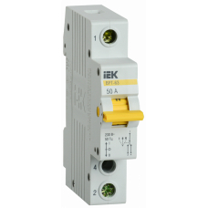 Выключатель нагрузки (рубильник) трехпозиционный ВРТ-63 1п 50А | MPR10-1-050 | IEK