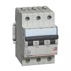 Выключатель автоматический трехполюсный TX3 6000 25A C 6кА   404058   Legrand