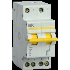 Выключатель нагрузки (рубильник) трехпозиционный ВРТ-63 2п 25А | MPR10-2-025 | IEK