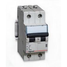 Выключатель автоматический двухполюсный TX3 6000 6А C 10кА | 403927 | Legrand