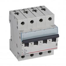 Выключатель автоматический четырехполюсный TX3 6000 13А C 10кА | 403957 | Legrand