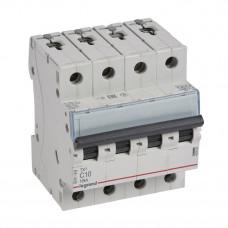 Выключатель автоматический четырехполюсный TX3 6000 10А C 10кА | 403956 | Legrand