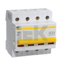 Выключатель нагрузки (мини-рубильник) ВН-32 4Р 100А | MNV10-4-100 | IEK