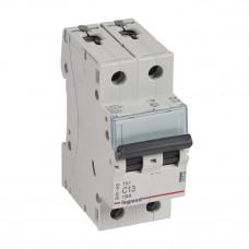 Выключатель автоматический двухполюсный TX3 6000 13А C 10кА | 403929 | Legrand