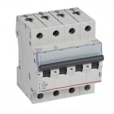 Выключатель автоматический четырехполюсный TX3 6000 50А C 10кА | 403963 | Legrand