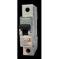 Выключатель автоматический однополюсный TX3 6000 50А C 6кА   404033   Legrand