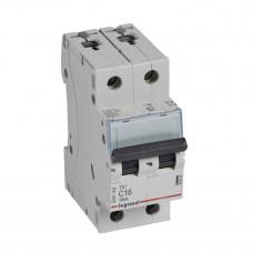 Выключатель автоматический двухполюсный TX3 6000 16А C 10кА | 403930 | Legrand