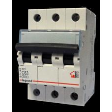Выключатель автоматический трехполюсный TX3 6000 10А C 6кА   404054   Legrand