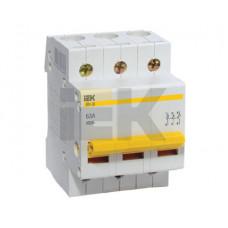 Выключатель нагрузки (мини-рубильник) ВН-32 3Р 63А | MNV10-3-063 | IEK