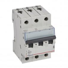 Выключатель автоматический трехполюсный TX3 6000 63А B 10кА   403894   Legrand