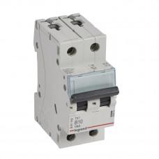 Выключатель автоматический двухполюсный TX3 6000 10А B 10кА   403872   Legrand
