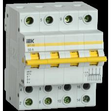 Выключатель нагрузки (рубильник) трехпозиционный ВРТ-63 4п 50А | MPR10-4-050 | IEK
