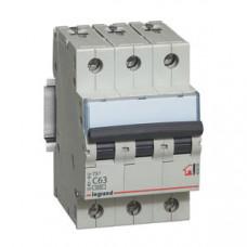 Выключатель автоматический трехполюсный TX3 6000 50A C 6кА   404061   Legrand