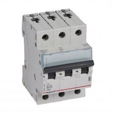 Выключатель автоматический трехполюсный TX3 6000 20А B 10кА   403889   Legrand