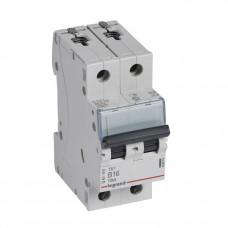 Выключатель автоматический двухполюсный TX3 6000 16А B 10кА   403874   Legrand