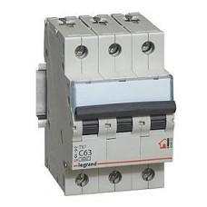 Выключатель автоматический трехполюсный TX3 6000 16A C 6кА   404056   Legrand