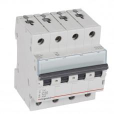 Выключатель автоматический четырехполюсный TX3 6000 20А C 10кА | 403959 | Legrand
