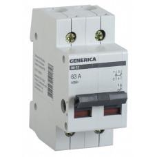 Выключатель нагрузки (мини-рубильник) ВН-32 2Р 63А GENERICA | MNV15-2-063 | IEK