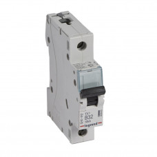 Выключатель автоматический однополюсный TX3 6000 32А B 10кА   403863   Legrand