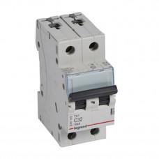 Выключатель автоматический двухполюсный TX3 6000 32А C 10кА | 403933 | Legrand