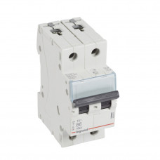 Выключатель автоматический двухполюсный TX3 6000 6А B 10кА   403871   Legrand