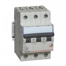 Выключатель автоматический трехполюсный TX3 6000 63A C 6кА   404062   Legrand