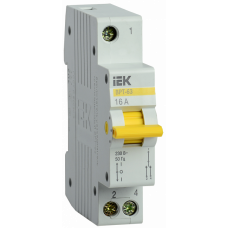 Выключатель нагрузки (рубильник) трехпозиционный ВРТ-63 1п 16А | MPR10-1-016 | IEK