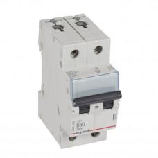 Выключатель автоматический двухполюсный TX3 6000 50А B 10кА   403879   Legrand