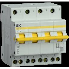 Выключатель нагрузки (рубильник) трехпозиционный ВРТ-63 4п 40А | MPR10-4-040 | IEK