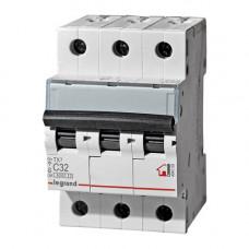 Выключатель автоматический трехполюсный TX3 6000 32A C 6кА   404059   Legrand