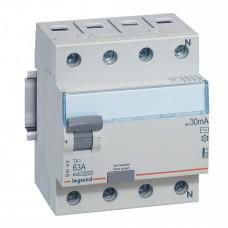 Выключатель дифференциальный (УЗО) TX3 4п 63А 30мА тип AC | 403010 | Legrand