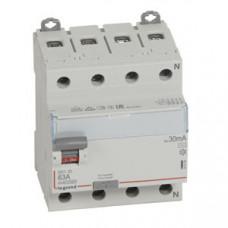 Выключатель дифференциальный (УЗО) DX3-ID 4п 63А 30мА тип AC | 411704 | Legrand