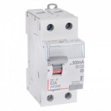 Выключатель дифференциальный (УЗО) DX3-ID 2п 63А 300мА тип A-S | 411584 | Legrand