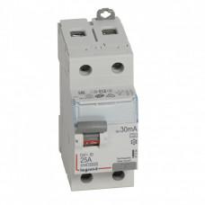 Выключатель дифференциальный (УЗО) DX3-ID 2п 25А 30мА тип A | 411554 | Legrand