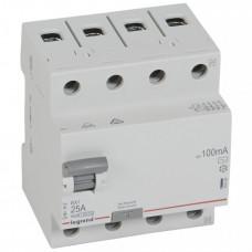 Выключатель дифференциальный (УЗО) RX3 4п 25А 100мА тип AC | 402066 | Legrand
