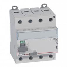 Выключатель дифференциальный (УЗО) DX3-ID 4п 80А 100мА тип AC | 411715 | Legrand