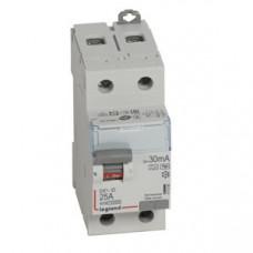 Выключатель дифференциальный (УЗО) DX3-ID 2п 25А 30мА тип HPI | 411590 | Legrand