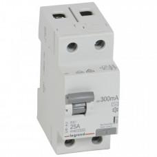 Выключатель дифференциальный (УЗО) RX3 2п 25А 300мА тип AC | 402032 | Legrand
