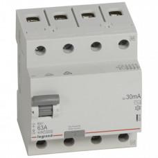 Выключатель дифференциальный (УЗО) RX3 4п 63А 30мА тип AC | 402064 | Legrand
