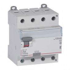 Выключатель дифференциальный (УЗО) DX3-ID 4п 25А 100мА тип A | 411769 | Legrand