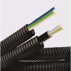 Труба гибкая гофрированная ПНД 16мм цвет с проводом 3*1,5ПВ-1 (ПуВ) РЭК