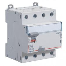 Выключатель дифференциальный (УЗО) DX3-ID 4п 100А 30мА тип A | 411763 | Legrand