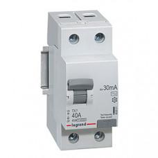 Выключатель дифференциальный (УЗО) TX3 2п 40А 300мА тип AC | 403039 | Legrand