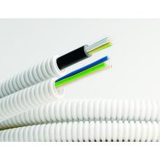Труба гибкая гофрированная ПВХ 16мм с кабелем 3х1,5 ВВГнгLS РЭК