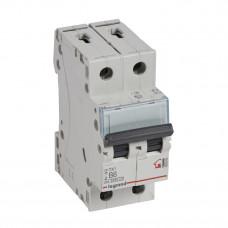 Выключатель автоматический двухполюсный TX3 6000 6А B 6кА | 403983 | Legrand